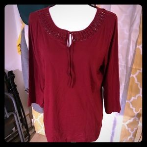 Chaps burnt red comfortable shirt XL 100% cotton